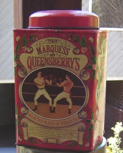 Marquis of Queensberry tea tin