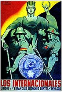 Poster for the International Brigades