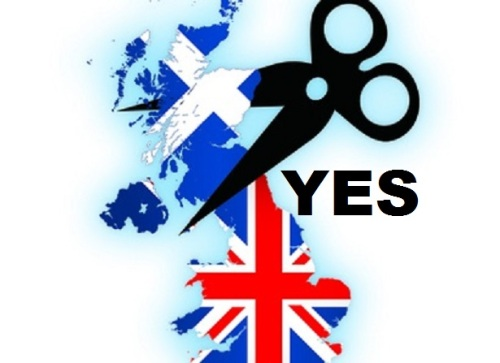 Scotland Yes Scissors